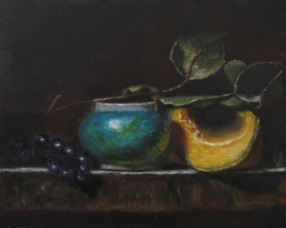 Turquoise Vase and Melon (after Jeff Legg)
