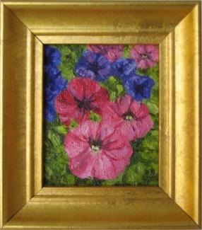Mostly Pink Petunias (miniature)