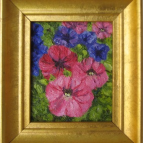 Mostly Pink Petunias (miniature)