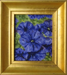 Violet Petunias (miniature)