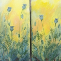 "12""X30"" (2) gallery Wrap ROMI Dawn"