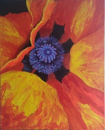 """24""""x30"""" Gallery Wrap ROMI Blowing in the wind"""