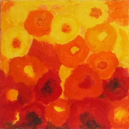 "20""X20"" Gallery Wrap ROMI Double Bloom (I)"