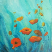 "24""x30"" Gallery Wrap ROMI Ariel's poppies"